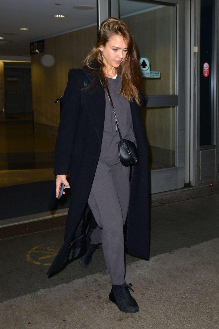 Jessica Alba: Arrives at LAX Airport -01