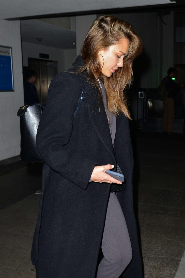 Jessica Alba: Arrives at LAX Airport -03