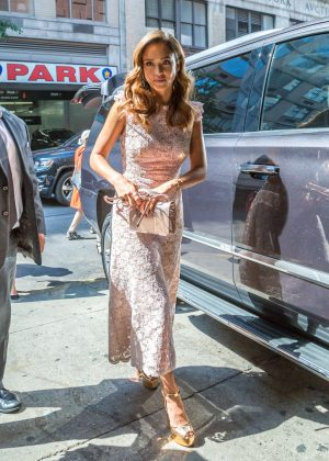 Jessica Alba Arrives at 'Live With Kelly' TV Show in New York