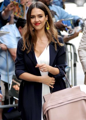 Jessica Alba Arrives at The View in New York