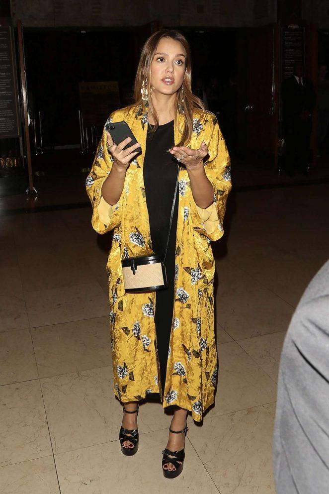 Jessica Alba: Arrives to Hamilton Opening Night -30