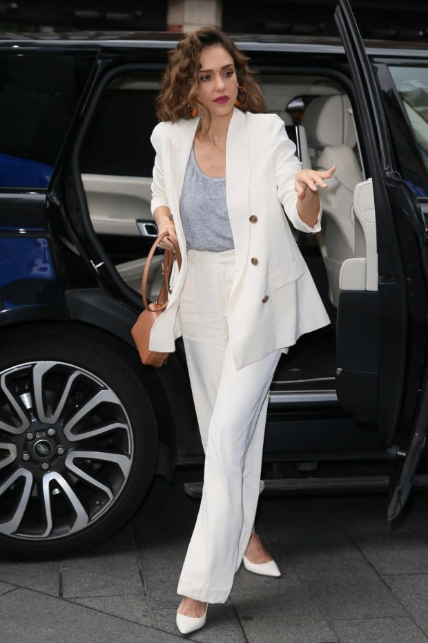 Jessica Alba - Arriving at Global Studios in London