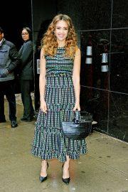 Jessica Alba - Arriving at Good Morning America in New York