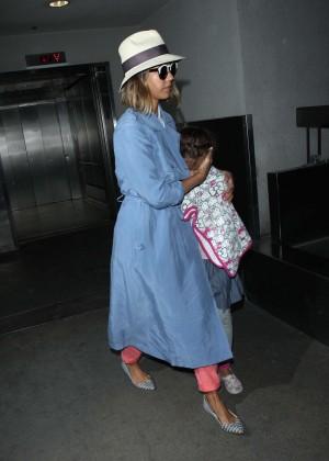 Jessica Alba - Arriving at LAX in LA