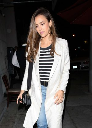 Jessica Alba at Craig's in West Hollywood