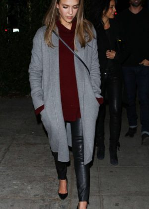 Jessica Alba at Delilah Club in West Hollywood