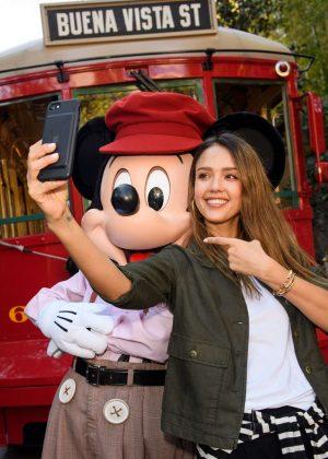 Jessica Alba at Disney California Adventure Park in Anaheim