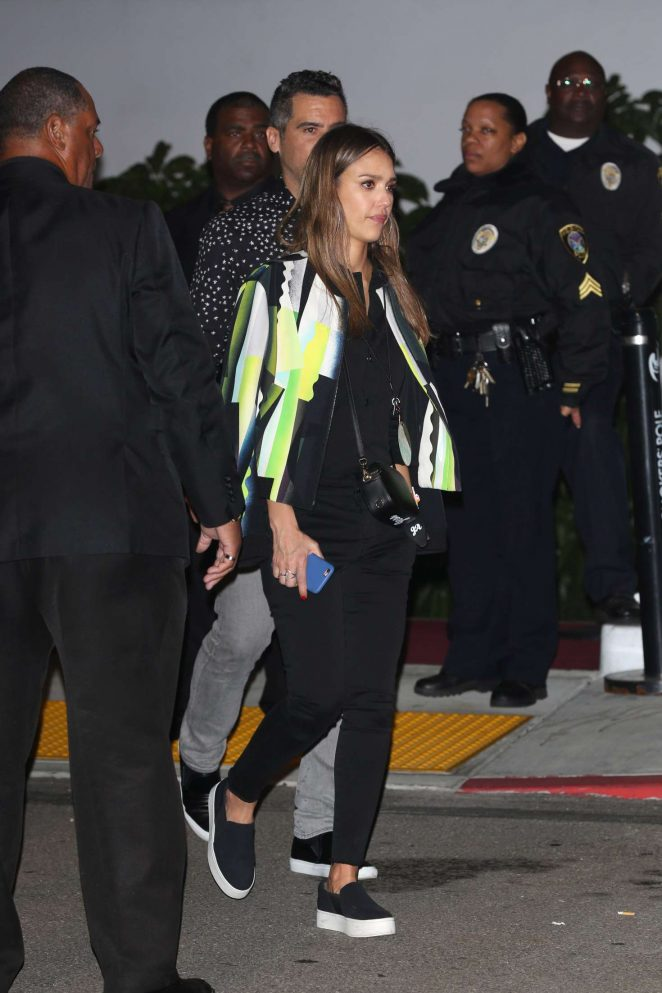 Jessica Alba at Kanye Concert in Inglewood -11