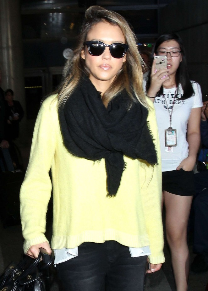 Jessica Alba at LAX airport in LA