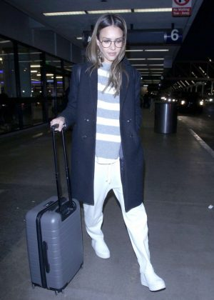 Jessica Alba at LAX airport in Los Angeles