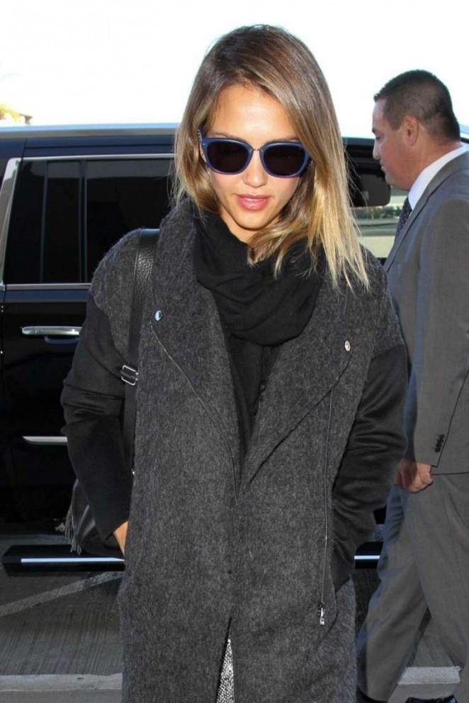 Jessica Alba at LAX Airport