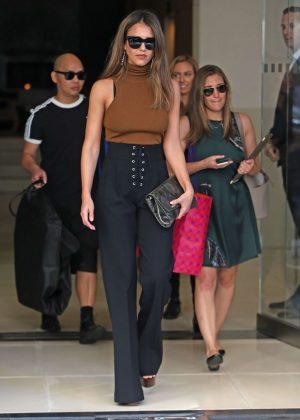 Jessica Alba at New York Fashion Week 2016 in NYC