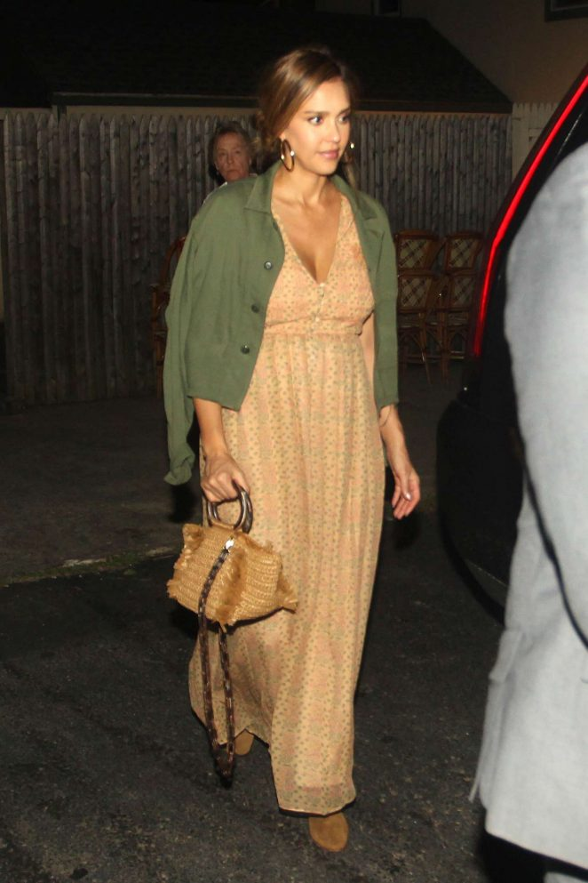 Jessica Alba at Nick and Toni's Restaurant in New York