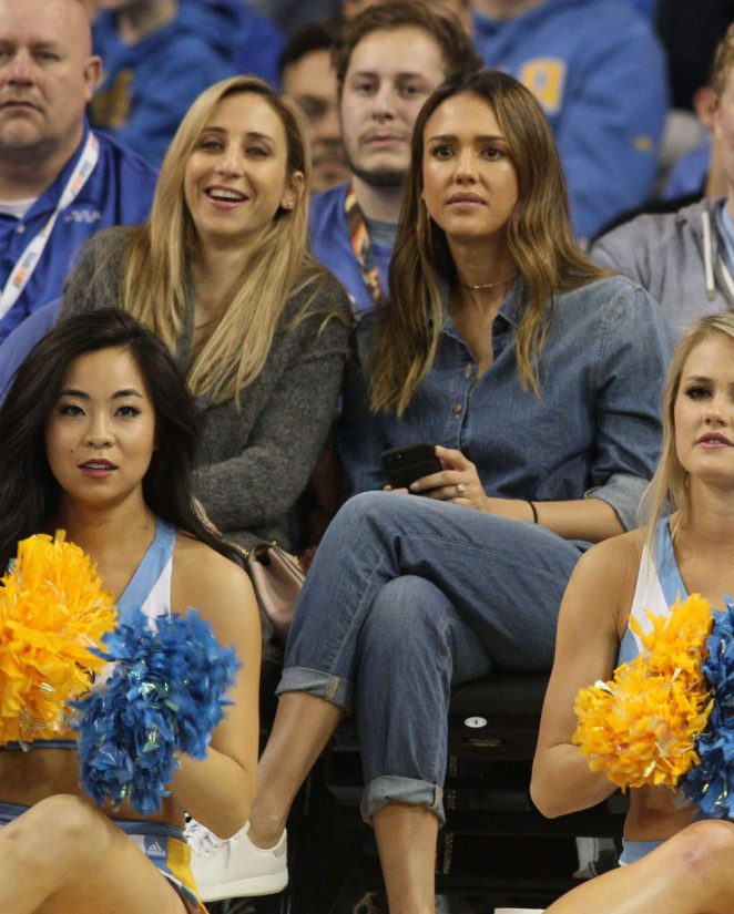 Jessica Alba at UCLA game in Los Angeles