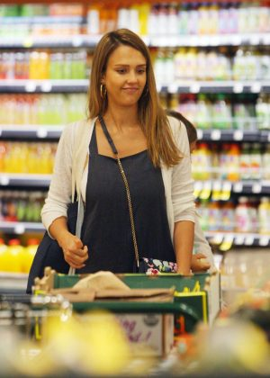 Jessica Alba at Whole Foods in Beverly Hills