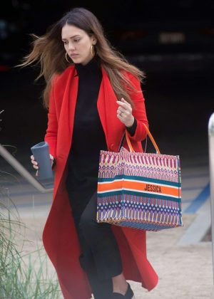 Jessica Alba - Attending a meeting in Los Angeles