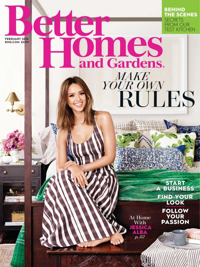 Jessica alba better homes and gardens february 2016 Bhg homes