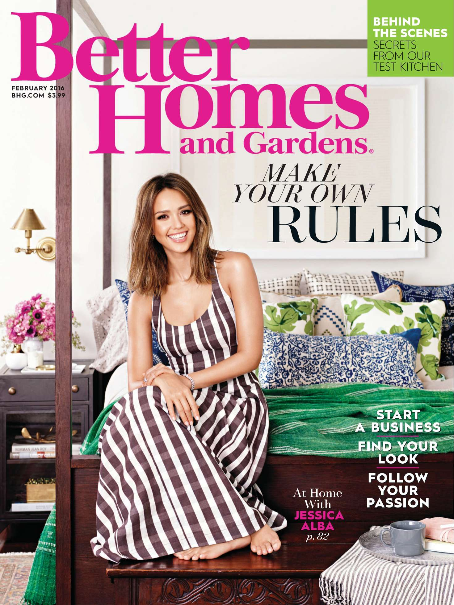 Jessica alba better homes and gardens february 2016 Better homes and gardens gardener