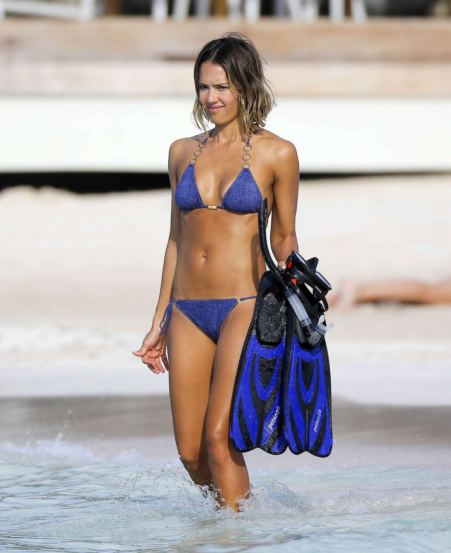 Consider, that jessica alba blue bikini