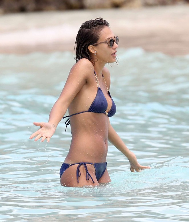 Something jessica alba blue bikini rather