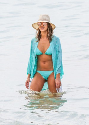 Jessica Alba in Blue Bikini in Hawaii