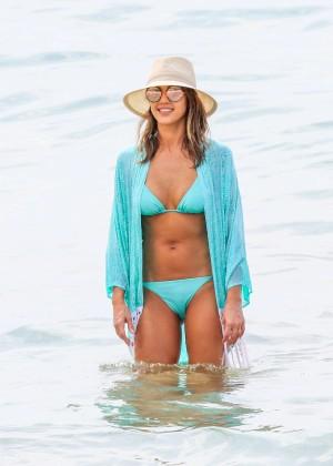 Jessica Alba in Blue Bikini 2016 -05
