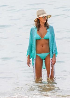 Jessica Alba in Blue Bikini 2016 -21