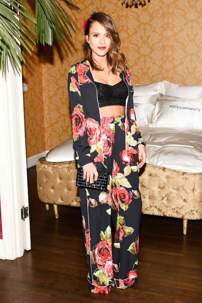Jessica Alba - Dolce and Gabbana Pyjama Party in Los Angeles