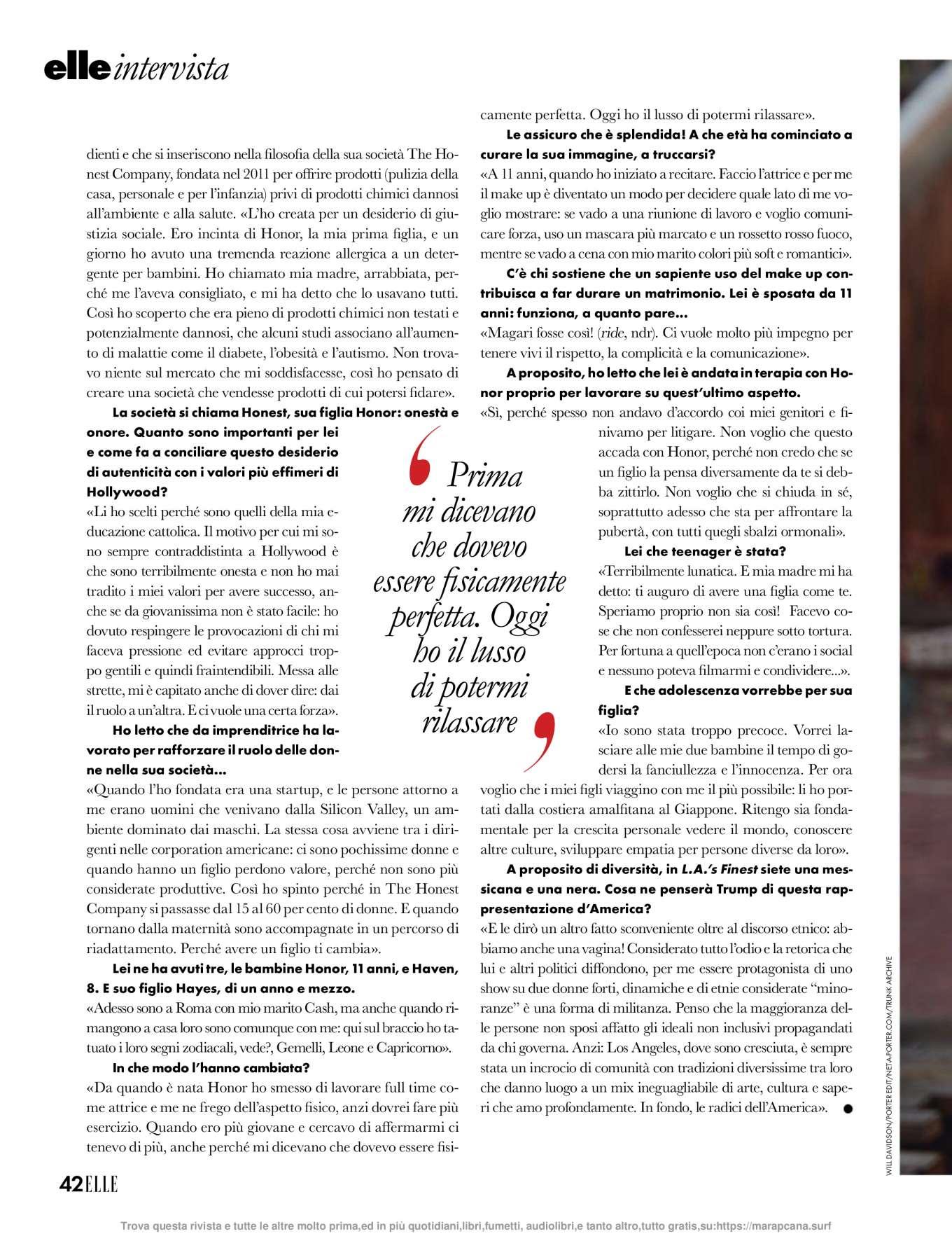 Jessica Alba 2019 : Jessica Alba – Elle Italy 2019-04