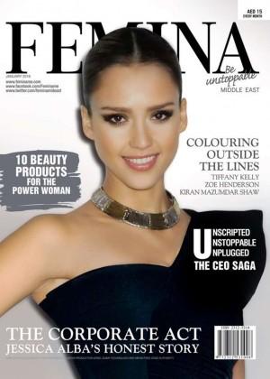 Jessica Alba - Femina Magazine Cover (January 2016)