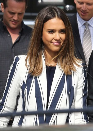 Jessica Alba - Filming for 'Celebrity Apprentice' in Beverly Hills