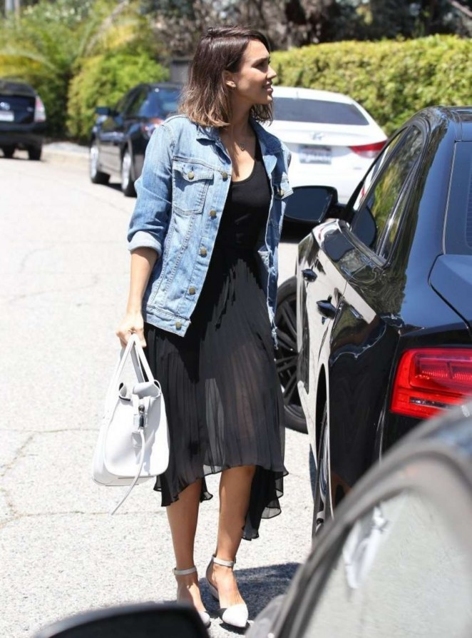 Jessica Alba - Going to a party in Beverly Hills