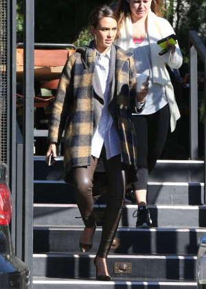 Jessica Alba grabs a coffee in Los Angeles