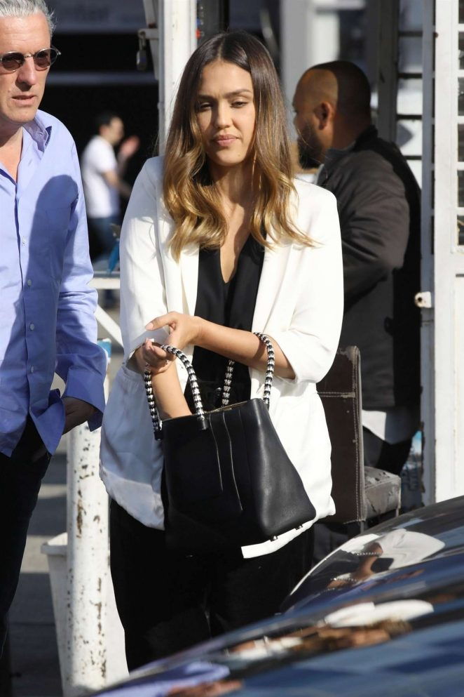 Jessica Alba - Heading to a business meeting in Beverly Hills