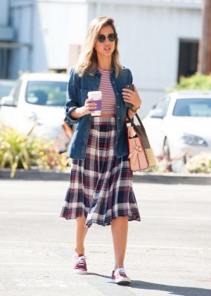 Jessica Alba in Dress Out in Santa Monica