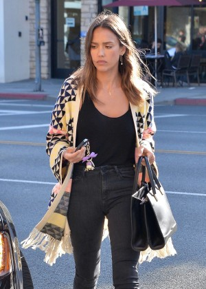 Jessica Alba in Jeans out in Beverly Hills