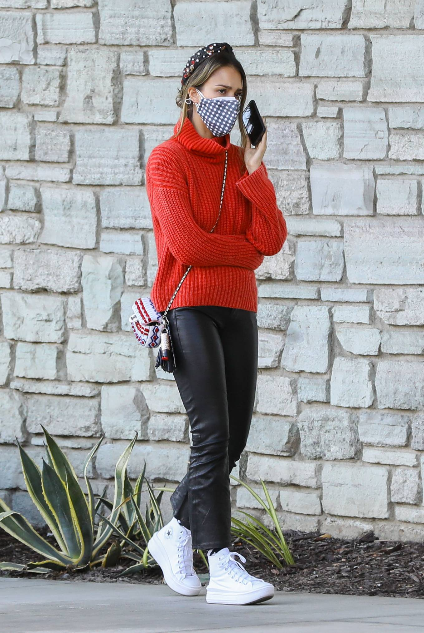 Jessica Alba - In leather pants goes Christmas shopping at Target in Hollywood