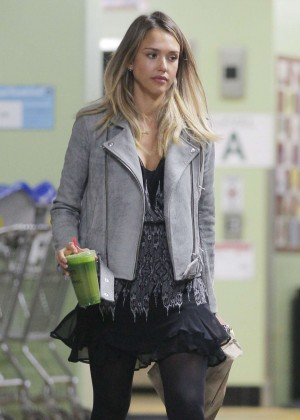 Jessica Alba in Mini Dress - Out and about in LA