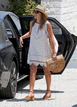 Jessica Alba in Mini Dress Out in LA