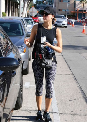 Jessica Alba in Tight Leggings out in West Hollywood