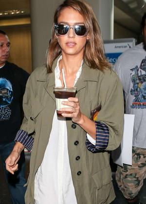 Jessica Alba - LAX Airport in LA