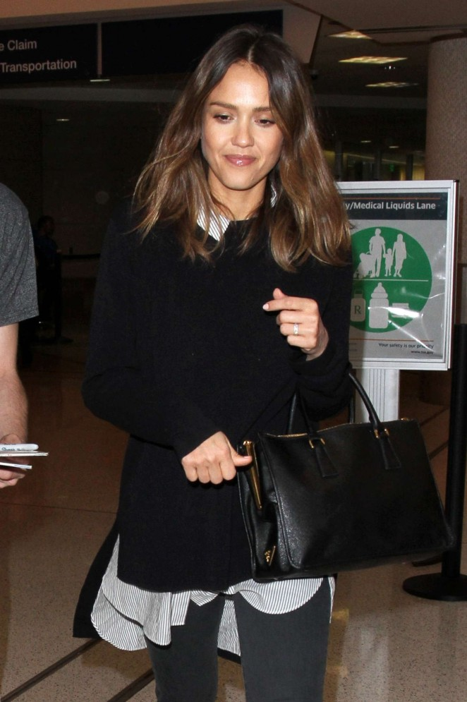 Jessica Alba - LAX Airport in Los Angeles