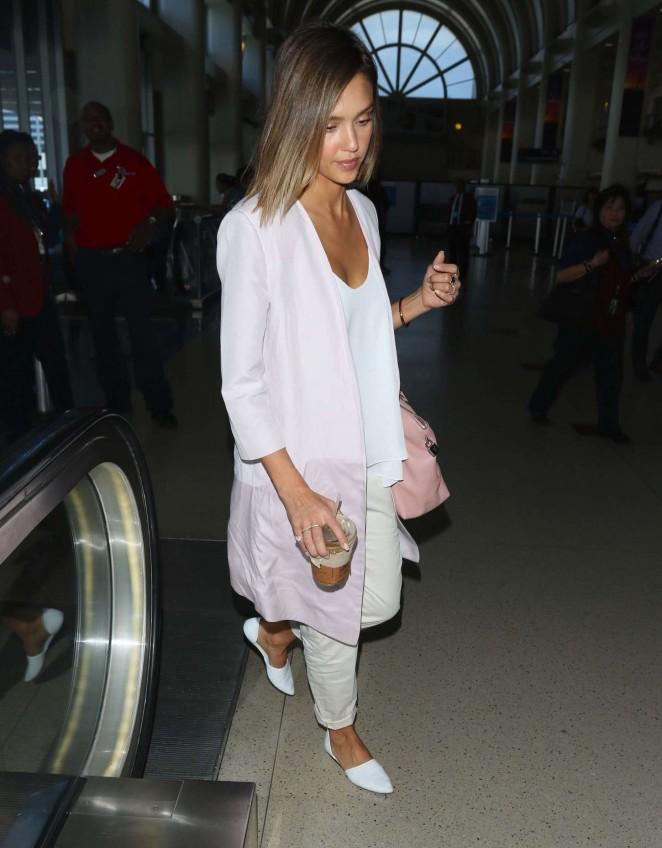 Jessica Alba: LAX Airport -06