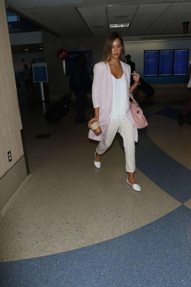 Jessica Alba: LAX Airport -09