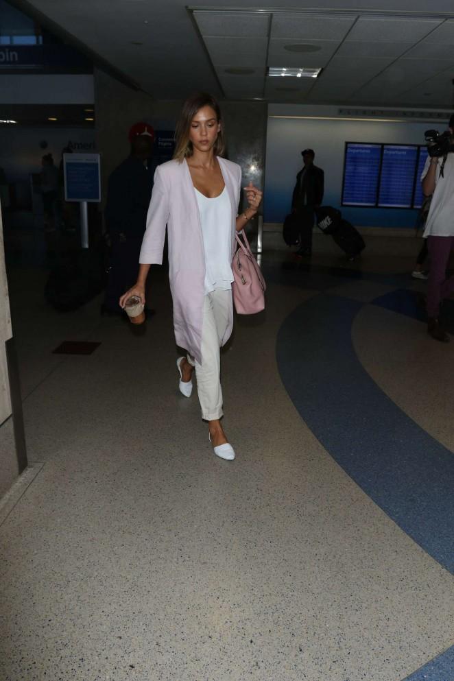 Jessica Alba: LAX Airport -12