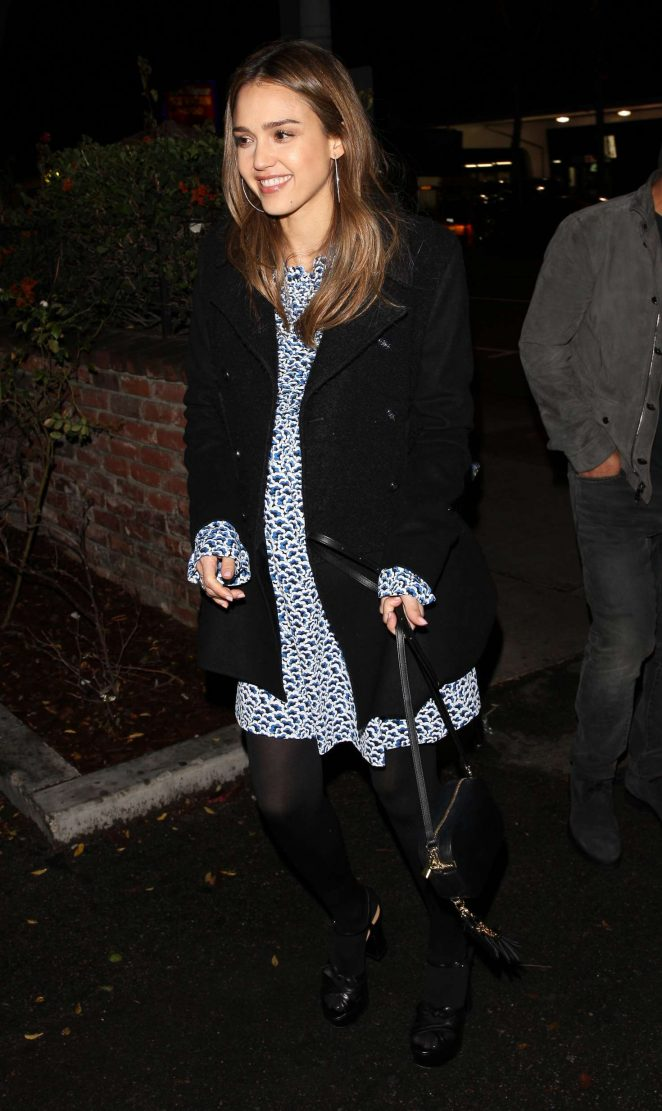 Jessica Alba Leave the Delilah club in West Hollywood
