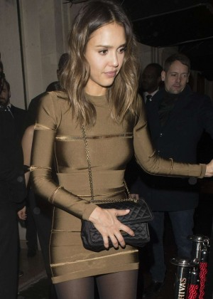 Jessica Alba - Leaves L'Arc Nightclub in Paris