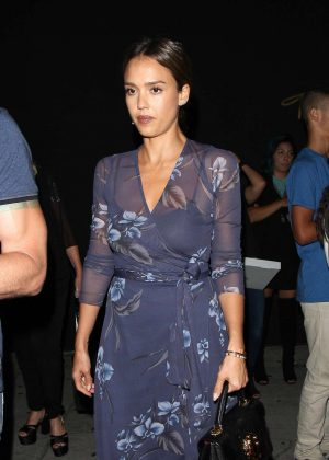 Jessica Alba - Leaves The Nice Guy Club in West Hollywood