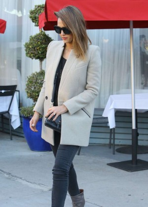 Jessica Alba - Leaving a Birthday Party in West Hollywood
