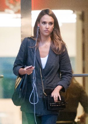 Jessica Alba leaving a meeting in Los Angeles